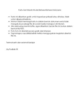 ID - Seri Merah Muda Bahasa Indonesia - Kartu Kata Dengan Gambar