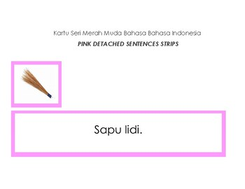 ID - Seri Merah Muda Bahasa Indonesia - Pink Detached Sentences Strips