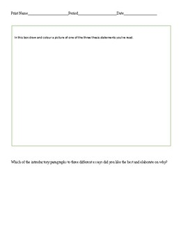 ID thesis & hook introductory paragraphs from 3 different essays. Answers given