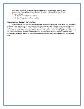 IDA Dyslexia Knowledge and Practice Standards for Teachers of Reading