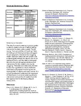 IDA Dyslexia Universal Screening: K–2 Reading