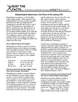 IDA Dyslexia and Morphological Awareness