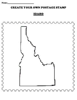 IDAHO Create your Own Postage Stamp Worksheet