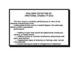 IDEA 2004 Disability definition cards