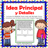 Idea Principal - Main Idea Task Cards - SPANISH