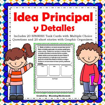 Idea Principal - Main Idea Task Cards - SPANISH