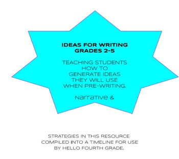 IDEAS FOR WRITING GRADES 2-5