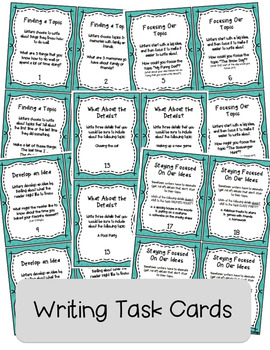 IDEAS Writing Trait Lessons and Task Cards BUNDLE