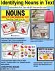 "IDENTIFYING NOUNS High Interest Reading TASK CARDS ""Task Box Filler"" for Autism"