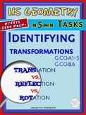 IDENTIFYING TRANSFORMATIONS (HS Geometry Curriculum in 5 m