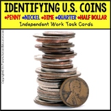 "IDENTIFYING U.S. COINS Task Cards for Autism and Special Needs ""Task Box Filler"""
