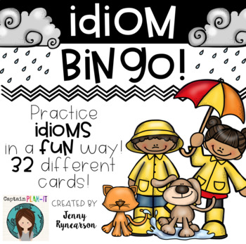 IDIOM BINGO! 32 different cards to help practice idioms in a FUN way!