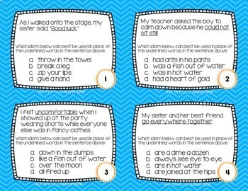 IDIOM BUNDLE - Idiom of the Week, Task Cards, I Have, Who Has