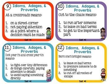 Idiom, Adage, and Proverbs, Set 1