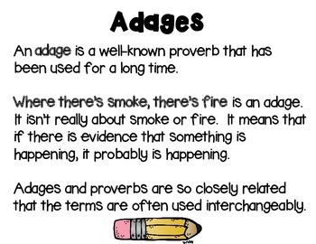 Idiom, Adage, and Proverbs, Set 1