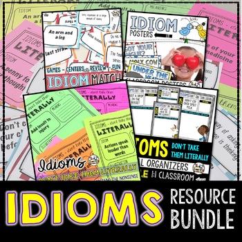 IDIOMS BUNDLE (NO-PREP) - 100+ PAGES OF PRINTABLES, MATCHI