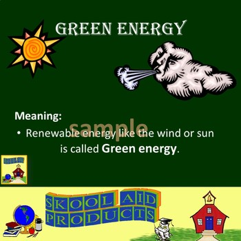 IDIOMS: Color My World Green PowerPoint Presentation