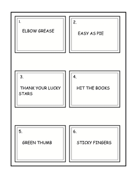 IDIOMS FOR KIDS PACKET