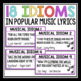 IDIOMS IN MUSIC: MATCHING ACTIVITY