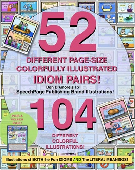 IDIOMS MEGA PACK! 52 DIFFERENT PAGES DOUBLE-ILLUSTRATED ID