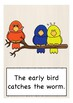 IDIOMS & PROVERBS flash cards / flashcards ESL, English vocabulary picture card