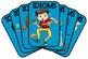 IDIOMS - USA Letter set of 50 Visual Flashcards - Set #1 (Blue) - PDF 2pp