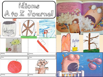 IDIOMS Unit 4 days of lessons Journal Project Center Task Cards Game