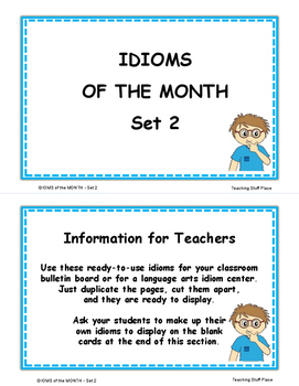 IDIOMS • Set 2 | Figurative Language CORE | BB Cards | Task Cards | Worksheets +