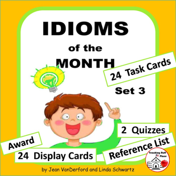 IDIOMS • Set 3 | Figurative Language CORE | BB Cards | Task Cards | Worksheets +