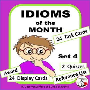 IDIOMS • Set 4 | Figurative Language CORE | BB Cards | Tas