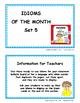 IDIOMS • Set 5 | Figurative Language CORE | BB Cards | Tas
