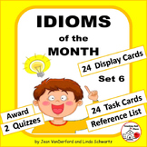 IDIOMS • Set 6 | Figurative Language CORE | BB Cards | Task Cards | Worksheets +