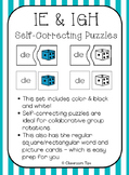 Long Vowel Teams: IE & IGH Self-Correcting Puzzles