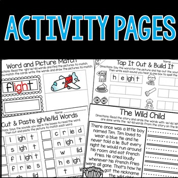 IE, IGH, and ILD Word Work Activities