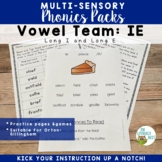 IE Phonics Activities Multisensory Practice to Support Orton-Gillingham