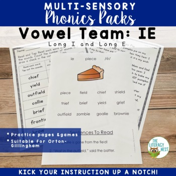IE Phonics Activities Multisensory Practice to Support Ort