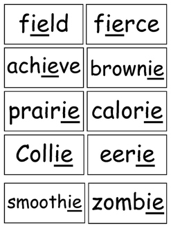 #endoftermdollardeals IE as in 'e' Sound Flashcards