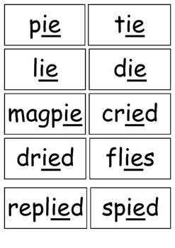 IE as in 'i' Sound Flashcards
