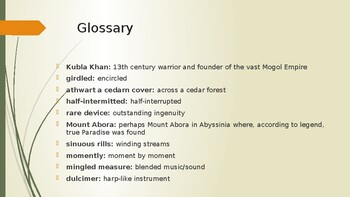 IEB Poetry: Kubla Khan PowerPoint Presentation