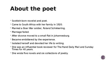 IEB Poetry: Rain After Drought PowerPoint Presentation