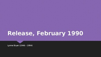 IEB Poetry: Release, February 1990 PowerPoint Presentation