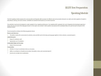 IELTS Speaking Module Part 2