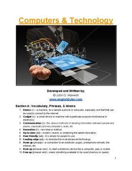 IELTS Speaking Topic: Computers and Technology