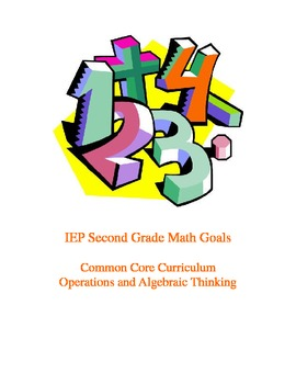 IEP 2nd Gr. Math Goals Common Core Curriculum: Operations and Algebraic Thinking