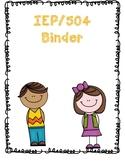 IEP/504 Binder Cover