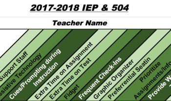IEP/504 Tracking Sheet (Editable)