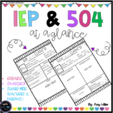 IEP & 504 at a Glance [Snapshot]
