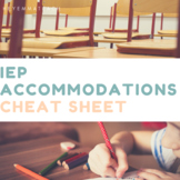 IEP Accommodations Cheat Sheet