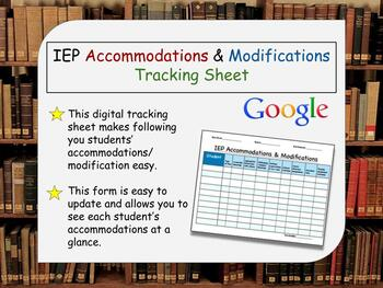 IEP Accommodations & Modifications Tracker: Digital Resource