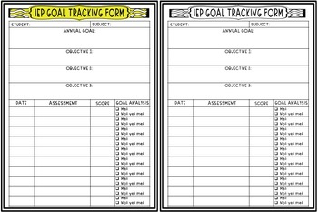 photo about Printable Iep Goal Tracking Sheets named IEP Once-a-year Aims and Aims Monitoring Sheet